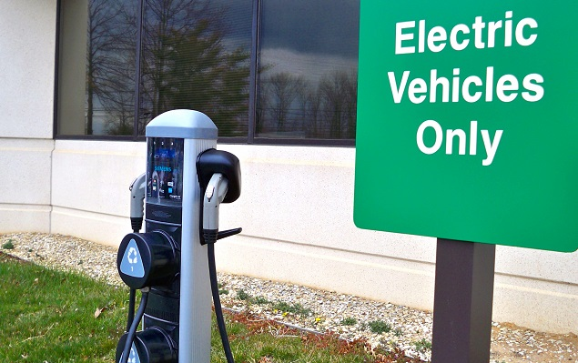 Electric charging stations like this one are becoming a more common sight across the United States.