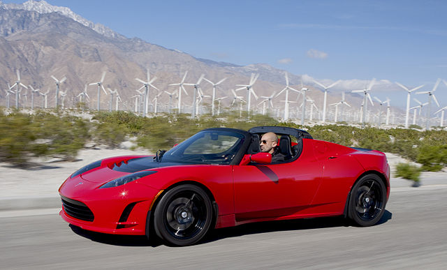 The Tesla Roadster Electric Car Shown Here Was Based On Gasoline Burning