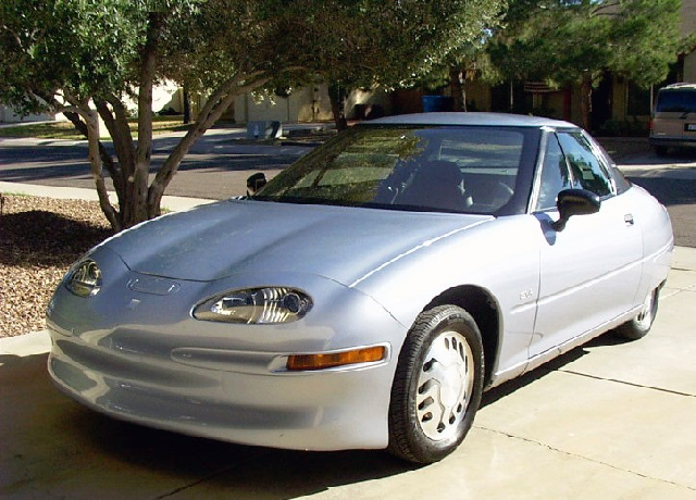 Remember this car? The EV1 electric car was produced by General Motors in the late 1990s. GM miscalculated the market and abandoned the car. Photo by RightBrainPhotography (Rick Bowen)