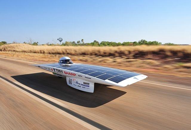 The Tokai Challenger is a Japanese-built solar race car. Photo credit: Hideki Kimura and Kouhei Sagawa