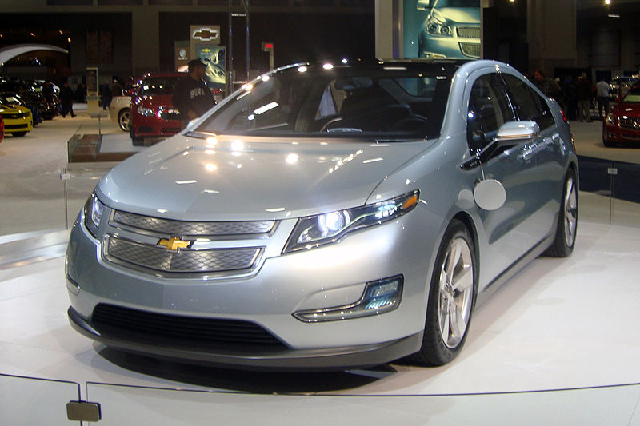 """GM redeemed itself, in a fashion, by building the Chevrolet Volt, which is classified as an """"extended-range electric vehicle."""" The about-face on electrics came only after a back-breaking recession sent SUV sales over a cliff. Photo by Mario Roberto Duran Ortiz"""