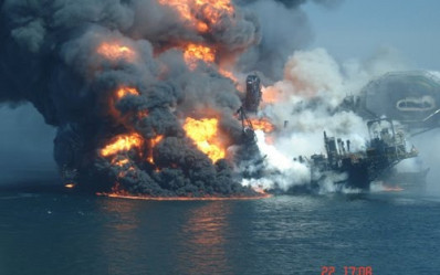 deepwater horizon burning