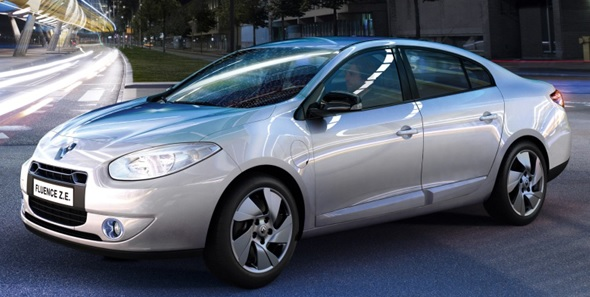 The Fluence Z.E. by Renault was the only vehicle capable of using battery swapping stations through Israeli company Better Place. Photo courtesy of Renault