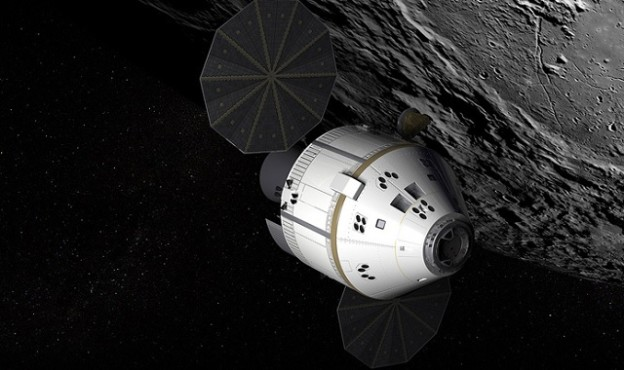 Space vehicles such as this next-generation Orion crew exploration craft could be a lot safer and cleaner-running with a newer, less toxic propellant. Image courtesy of NASA