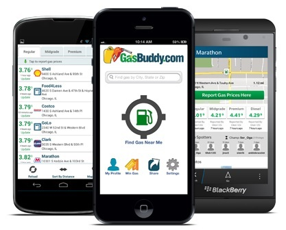 Smartphone applications like the GasBuddy can help you live a greener lifestyle even while you're on the go.