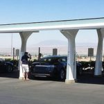 Tesla's Supercharger battery recharge stations will soon blanket the United States, if the automaker has its way. Some will be solar-powered.